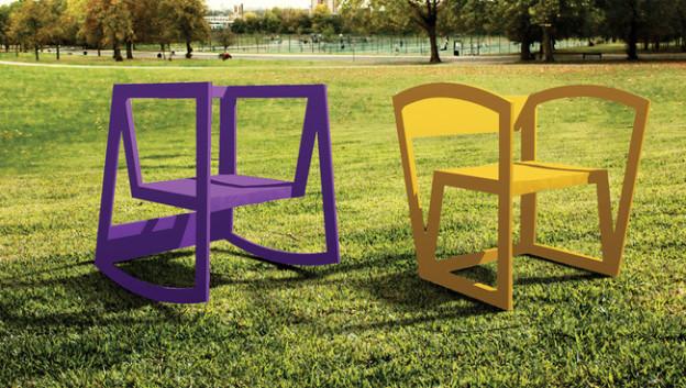 URock cadeira feita com PET