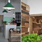 Projeto de design de interior sustentável para um Café.