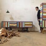 Designer carioca utiliza materiais reciclados como base para sua arte.