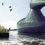 """Um """"Pato Gigante"""" é a proposta de designers para captar energia solar em Copenhage"""