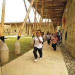 Escola em bambu na Colômbia
