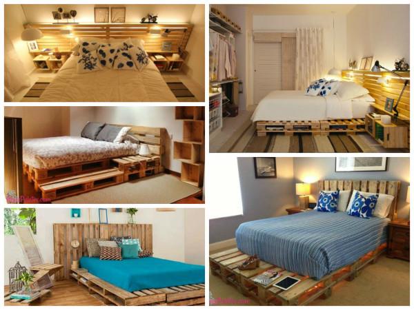 reutilização de paletes - camas