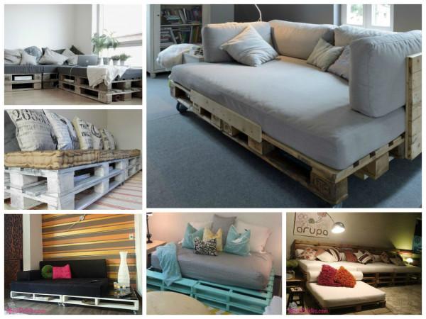 Dicas para reutilizar paletes - sofá