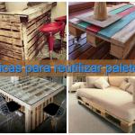 Dez dicas para reutilizar paletes de madeira