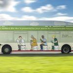Bio-bus: o ônibus movido a fezes e lixo da Inglaterra