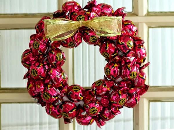 Guirlanda de chocolate - Decoração Sustentável de Natal
