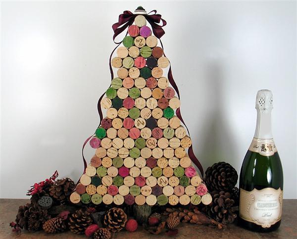 Árvore de Natal de rolha