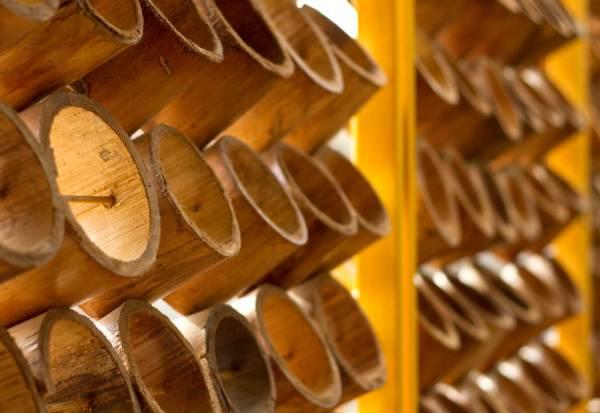 bambu utilizado na casa