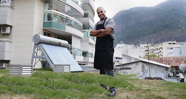 Telhado verde restaurante sustentável