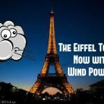Torre Eiffel sustentável: o ícone de Paris agora tem energia eólica