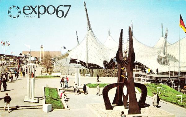 Frei Otto_Pavilhão da Alemanha - Expo 67
