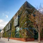 Jardim vertical do Palácio de Congressos de Vitoria, na Espanha