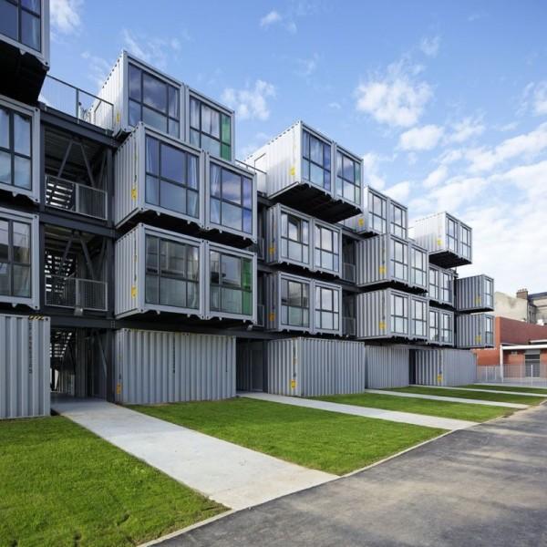 Constru o em container para moradia de estudantes for Logement conteneur