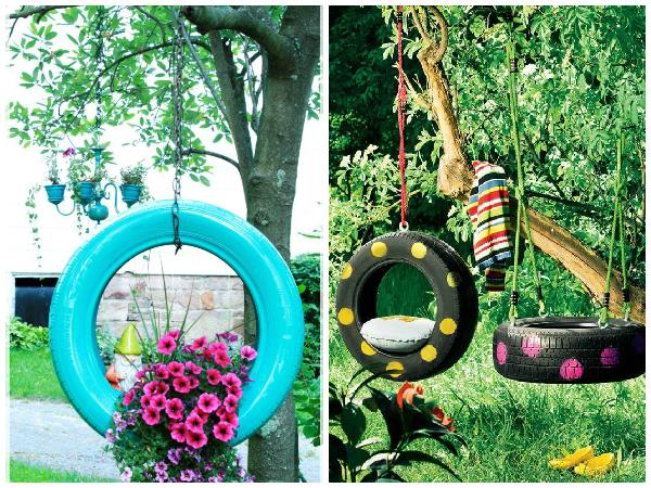horta e jardim em pneus : horta e jardim em pneus:Dicas para reutilizar pneus na decoração – SustentArqui