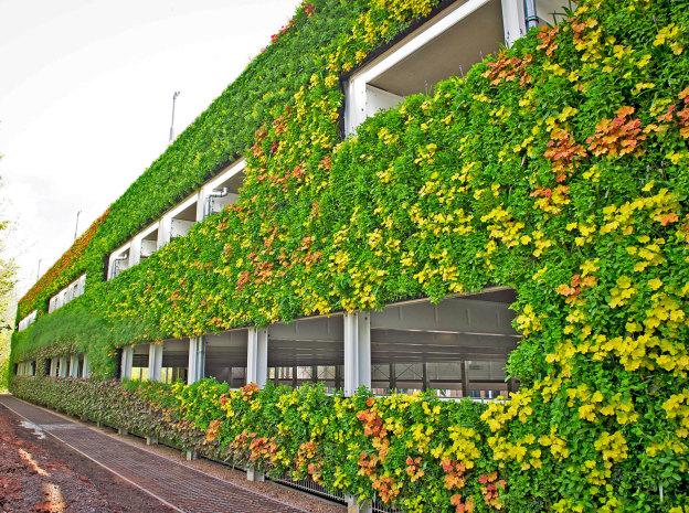 Maior Jardim vertical da europa - Edifício garagem Warwick