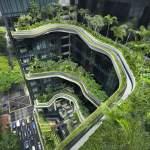 Parkroyal em Cingapura, dobra a área verde do local