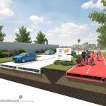 Estradas feitas com plástico reciclado e fáceis de montar