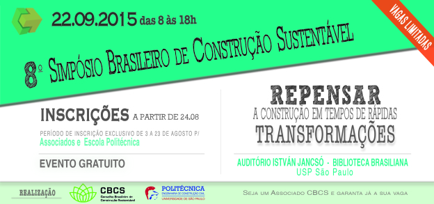 8º Simpósio Brasileiro de Construção Sustentável