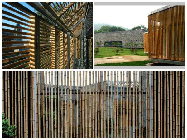Brise Bambu -  como usar o bambu na decoração e paisagismo.