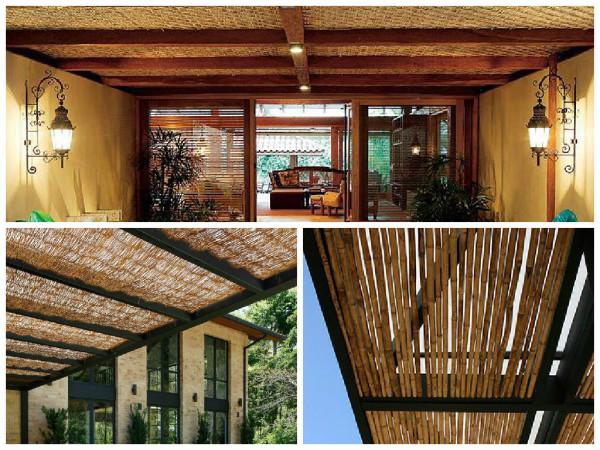 Forro bambu -  como usar o bambu