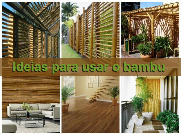 ideias para usar o bambu