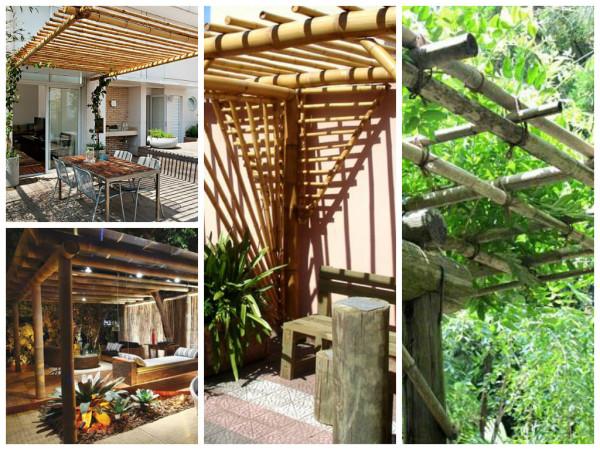 pérgola bambu -  como usar o bambu na decoração e paisagismo.