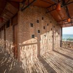 Alojamento em Ruanda com materiais locais e naturais