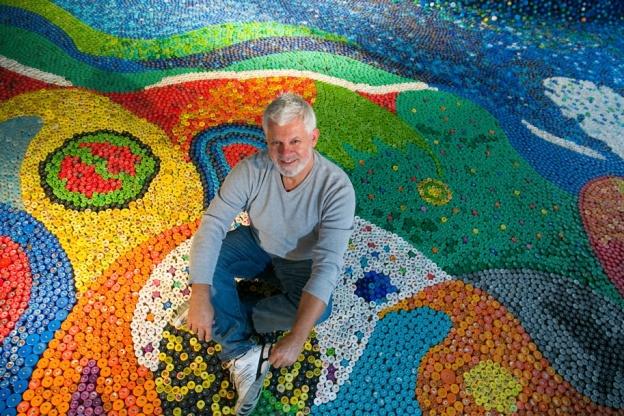 Arte Sustentável: reciclagem - projeto Tampart
