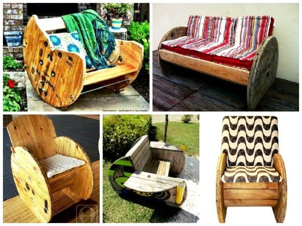 Dicas para reutilizar carretéis de madeira
