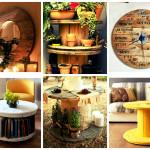 Dicas para reutilizar carretéis de madeira na decoração