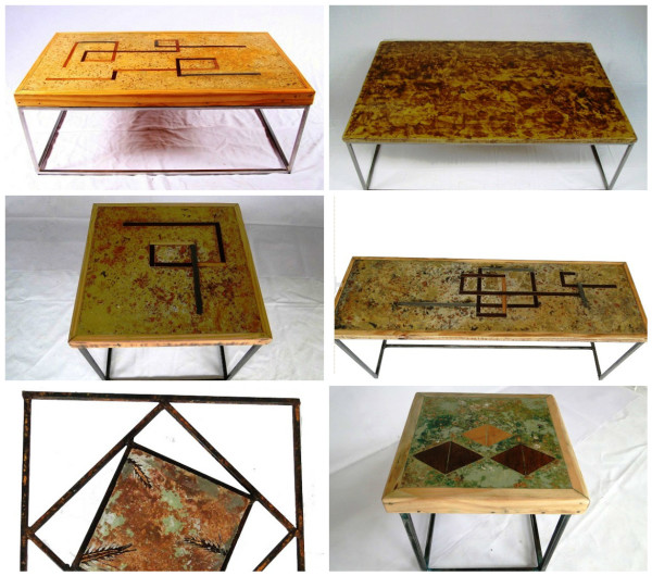 Sacos de cimentos descartados transformados em mobiliário ecológico