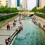 Restauração sustentável de rio em Seul
