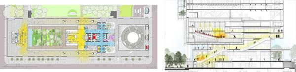 edifício bioclimático Renzo piano croquis