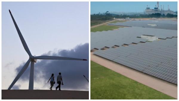 energia solar e eólica na matriz brasileira