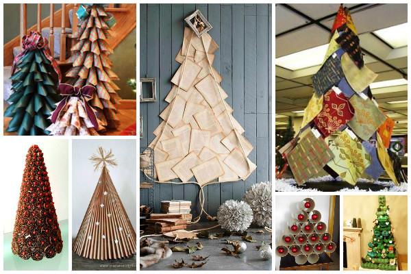 decoracao de arvore de natal tradicional:13 Dicas de árvores de Natal sustentáveis Dicas de árvores de Natal