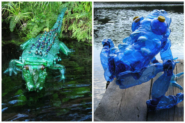 Garrafas Pet Transformadas Em Arte Por Artista Tcheca Sustentarqui