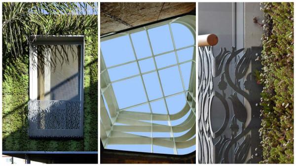 teto e paredes verdes