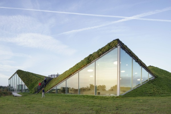 museu na holanda - telhado verde