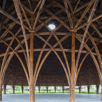 Cúpulas de bambu misturam arte tradicional e arquitetura contemporânea