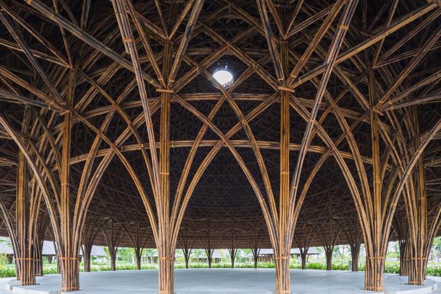 Cúpulas de bambu