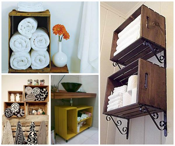 Pin Dicas De Decoração De Caixotes De Madeira Fotos E Passo A Passo on Pinterest -> Decoracao De Banheiro Com Caixote De Feira