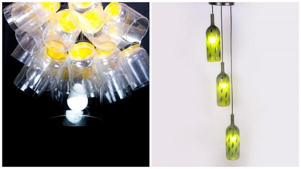 reaproveitamento de vidro luminárias