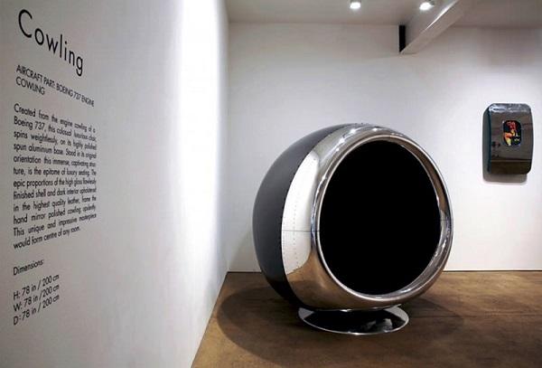 De peça de avião a móvel de design: Conheça a 737 Cowling Chair