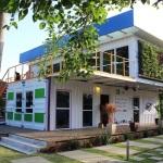Edificação em container da ONG Onda Verde
