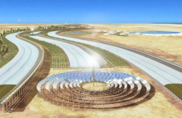 horta orgânica no deserto