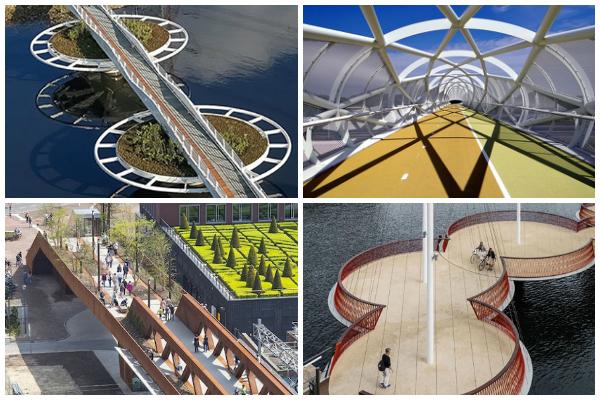 ponte para ciclistas e pedestres