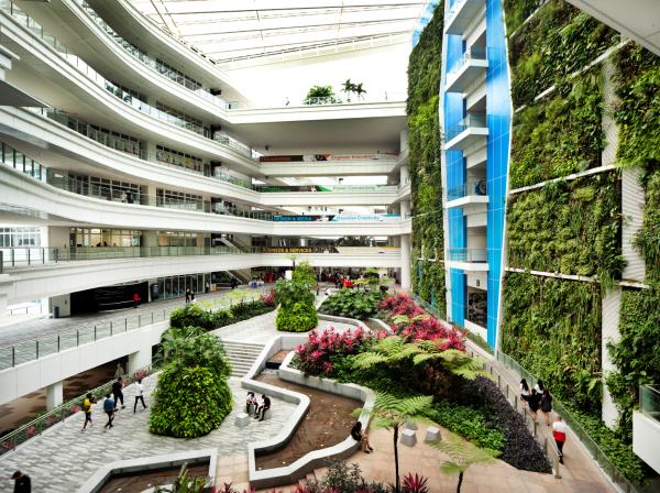 jardim vertical rio de janeiro:Jardim Vertical em Cingapura é peça chave