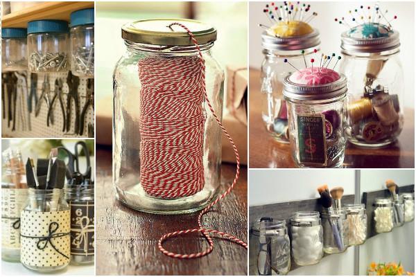 Outros potes de vidro na decoração