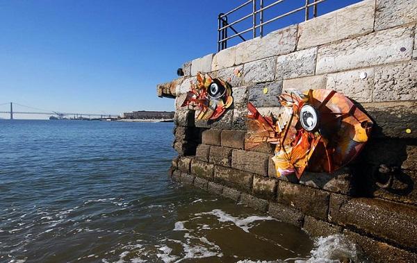 bordalo esculturas urbanas