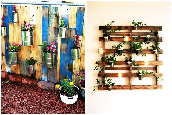 ideias jardim reciclado : ideias jardim reciclado:Confira outras inspirações para usar os paletes reutilizados de